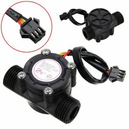 1/2'' Water Flow Sensor Control Fluid Flowmeter Counter 1-30