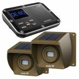 Solar Wireless Driveway Alarm System 1/3 Mile Long Range Sen
