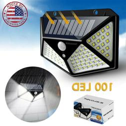 100 LED Solar Power Light PIR Motion Sensor Outdoor Waterpro