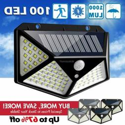 2 LED Solar Powered Lights Outdoor Wireless Motion Sensor Wa