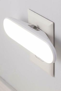 White Plug In LED Night Light 100Lm Bed Bath Room Stairs Hal