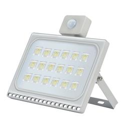 100W LED Flood Light Outdoor Ultrathin Cool White with PIR M