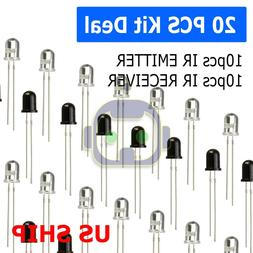 20pcs 5mm 940nm leds infrared emitter