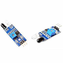 2pcs ir infrared distance proximity object detection