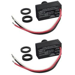 2pcs outdoor electric resistor photocell light control