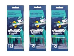3 PACK Gillette Sensor2 Plus Men's Disposable Razors, 15 R
