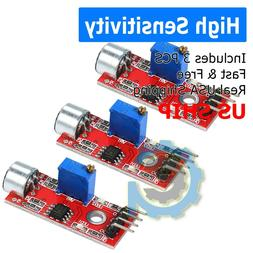 3X Microphone Sensor High Sensitivity Sound Detection Module