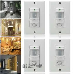4x LED Body Motion Sensor Detector Infrared Lamp Switch Wall