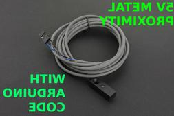 5V Metal Proximity Switch with Arduino Code