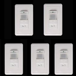 5x Body Infrared Motion Sensor Switch Detector Wall Mount LE