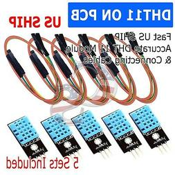 5X DHT11 Temperature and Relative Humidity Sensor Module for