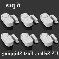 6 pcs  WIRELESS Home Window Door Burglar Security ALARM Syst