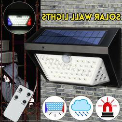 80LED Solar Wall Light with Alarm Outdoor Garden Pathway PIR