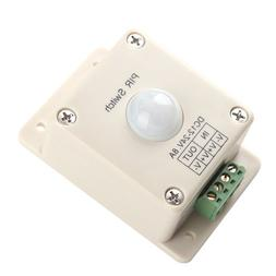 BQLZR DC 12V~24V 8A Automatic LED PIR Motion Sensor Switch L