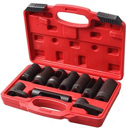 CARTMAN Automotive Oxygen Sensor Socket Set 10PC Socket Set