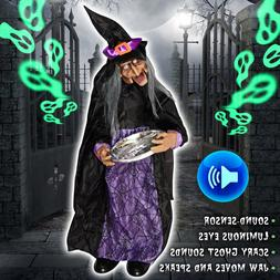 Animated Witch with Sound Sensor Ghost Lighted Eyes Motion S