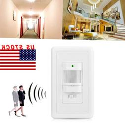 Auto On/Off Infrared PIR Occupancy Vacancy Motion Sensor Wal