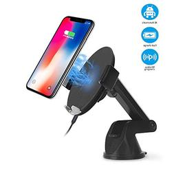Automatic Sensor Wireless Car Charger Mount, Smart Touch Qi