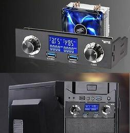 """5.25"""" Bay USB 3.0 LCD Front Panel Fan Speed Controller & CPU"""