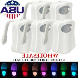 bowl bathroom toilet night led 8 color
