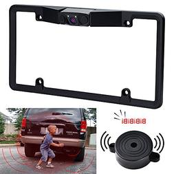 License Plate Frame Camera NoDrill - with 2 Radar Sensors Bi