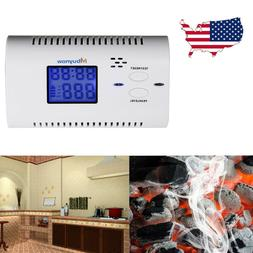 CO Carbon Monoxide Detector Poisoning Gas Warning Co2 LCD Al