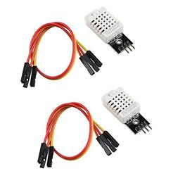 Gowoops 2 PCS DHT22 Temperature Humidity Sensor Module Digit