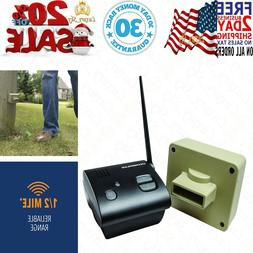 Driveway Alarm Outdoor Motion Sensor 1/2 Mile Long Range Wir