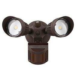 20W Dual-Head Motion Activated LED Outdoor Security Light, P