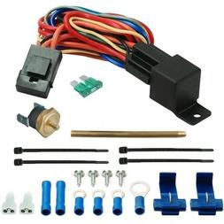 ELECTRIC FAN THERMOSTAT SWITCH KIT PUSH-IN RADIATOR FIN PROB