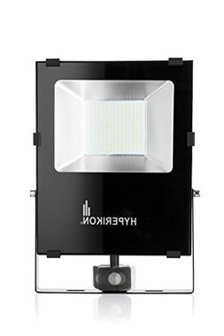 Hyperikon Outdoor LED Flood Light with Motion Sensor, 100W