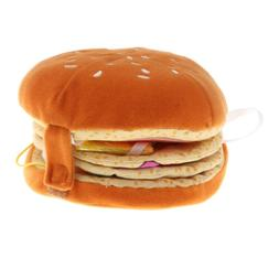 Fun 3D Hamburger Cloth Book Educational Crib Toy for Kid Bab