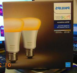 New~ Philips Hue 2x single A19 Smart Bulbs. White Ambiance F