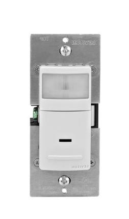 Leviton IPV02-1LW R02-Single Pole Universal Motion Sensor, 1