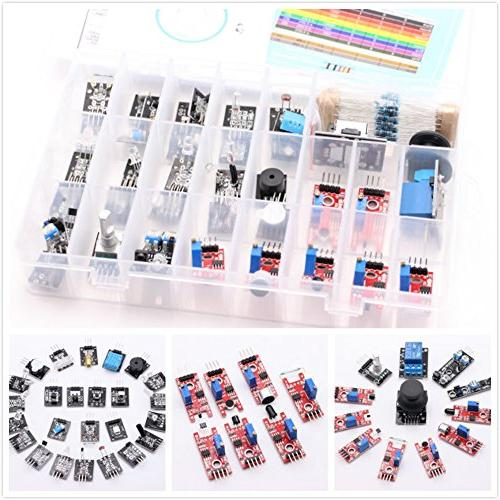 HWAYEH 37 Sensor Modules Kit,With Tutorial For Arduino MEGA Nano 2016 New Version, For Starters Projects Starter Kits