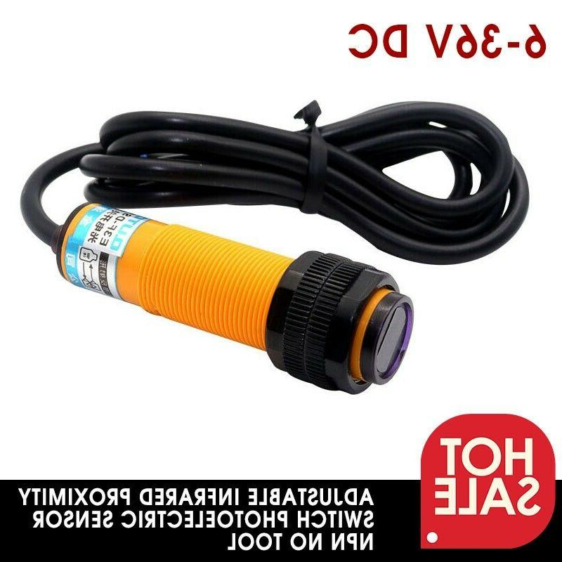 12v 24v adjustable infrared proximity switch photoelectric
