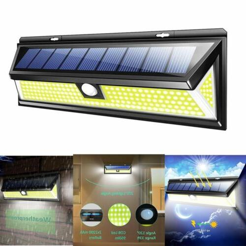 180 led solar power pir motion sensor