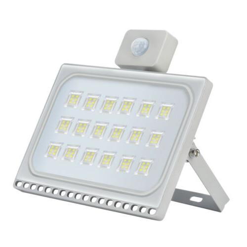 1x 100w pir motion sensor led flood