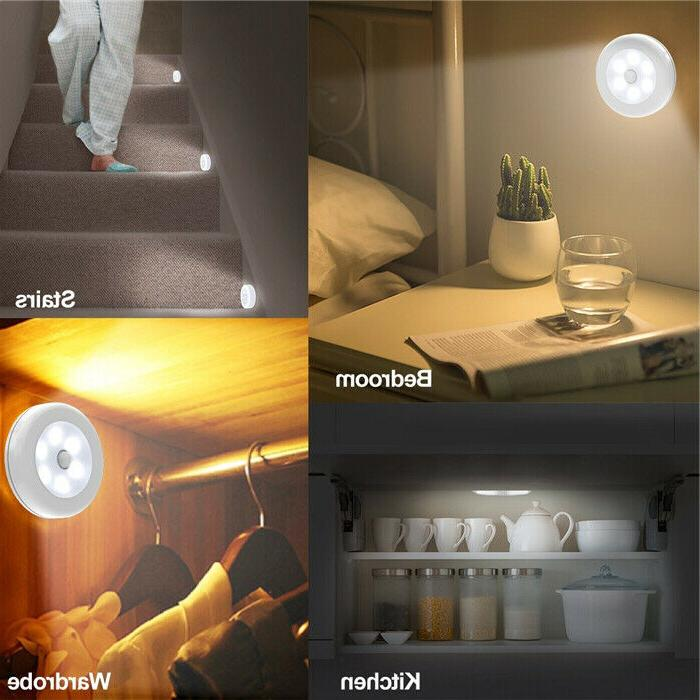 3-Pack Motion Light Cordless Battery-Powered LED Light