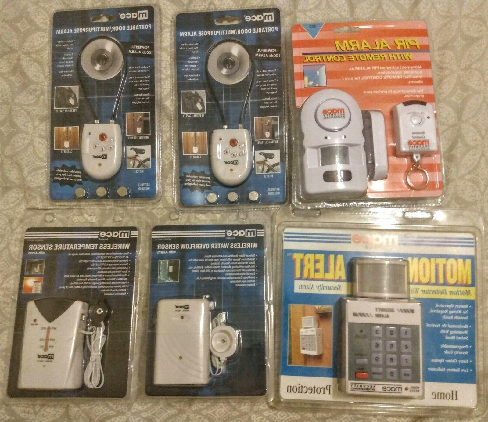 5 electronic devices sensors alarms
