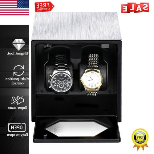 Wood Watch Winder Storage Display Case Box With Two Cushion