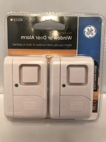 GE Security Alarm, 2-Pack, DIY Protection, Alert, Alarm, Ideal Apartment, Dorm, and Office,