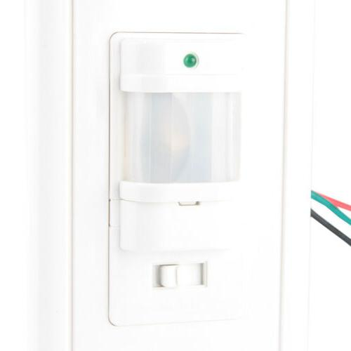 US Body Motion Sensor Detector Wall Mount LED Light Control