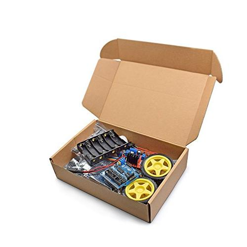 VKmaker New Motor Chassis Kit Speed Encoder Battery Box 2WD module
