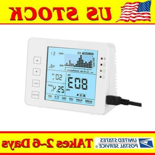 indoor air quality monitor meter co2 temp