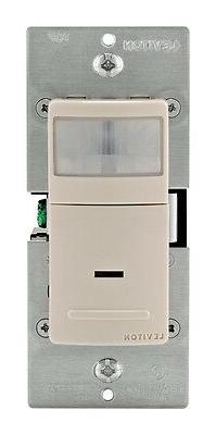 Leviton Lt Almond 1-Pole Wide View Motion Activated Light Co