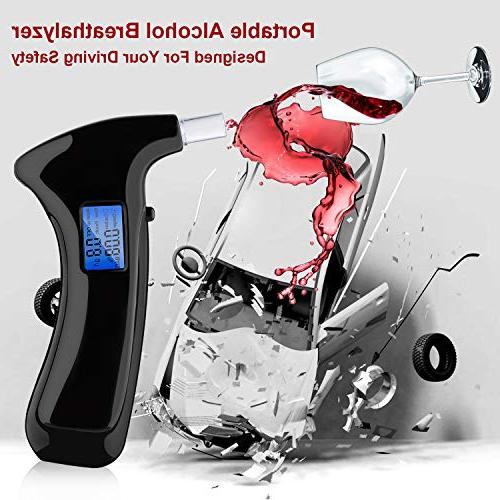 Portable Breathalyzer Alcohol Tester with LCD Display with & Semiconductor Sensor Detector