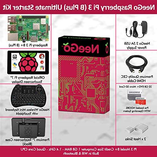 "Raspberry Pi Ultimate Set Includes Raspberry Motherboard, 7"" Touchscreen Power Card, Case & Cable"