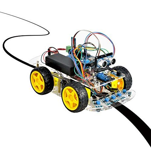 OSOYOO Robot Smart Car for DIY Kit with Tutorial iOS WiFi IR Modules and Tracking Ultrasonic