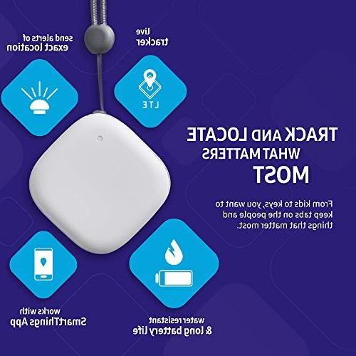 Samsung SmartThings Tracker GPS-Enabled Tracking via Nationwide LTE-M for Cars, Pets Luggage, and More Small,